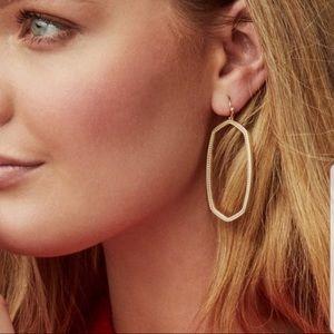 NWT Danielle Open Frame Statement Earrings In Gold